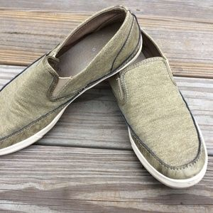 Steve Madden Men Loafer Shoe Green Leather/Fabric
